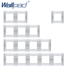 Wallpad Luxury Aluminum Alloy Panel Frame Silver Hotel Panel Vertical and Horizon Frame 1 2 3 4 5 Frames Panel Only