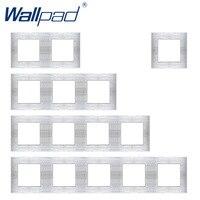 Wallpad Luxus Aluminium Legierung Panel Rahmen Silber Hotel Panel Vertikale und Horizon Rahmen 1 2 3 4 5 Rahmen Panel nur-in Platte aus Heimwerkerbedarf bei