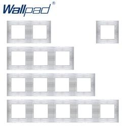 Wallpad luksusowa rama panelu ze stopu aluminium srebrny Panel hotelowy rama pionowa i horyzontowa 1 2 3 4 5 tylko Panel ramek