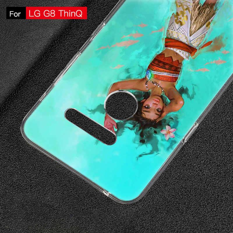 Moana Bonito dos desenhos animados Capa de Silicone Para LG G5 G6 Mini G7 G8 G8S V20 V30 V40 V50 ThinQ Q6 Q7 q8 Q9 Q60 W10 W30 Aristo 2 X Power 2 3