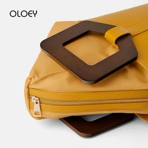 Image 5 - Vintage Fashion Female Tote bag 2019 New Quality PU Leather Womens Wooden handle Designer Handbag Shopping Messenger bag Bolsas