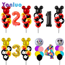 Toys Balloons Mouse Birthday-Party-Decoration Baby Shower Mickey Minnie Children Kids
