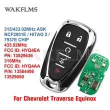 Chevrolet Traverse Equinox 2018 2019 2020 스마트 카 키 7937E 칩 FCC ID:HYQ4EA HYQ4AA PN:13529636 13584498 13529650