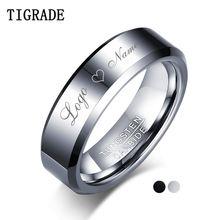 Вольфрамовое кольцо tigrade для мужчин женщин полированное уникальное