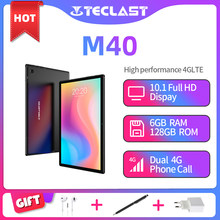 Teclast M40 10.1'' Tablet UNISOC T618 Octa Core 1920x1200 4G Network 6GB RAM 128GB ROM Android 10 Dual Wifi Type-C Tablets PC