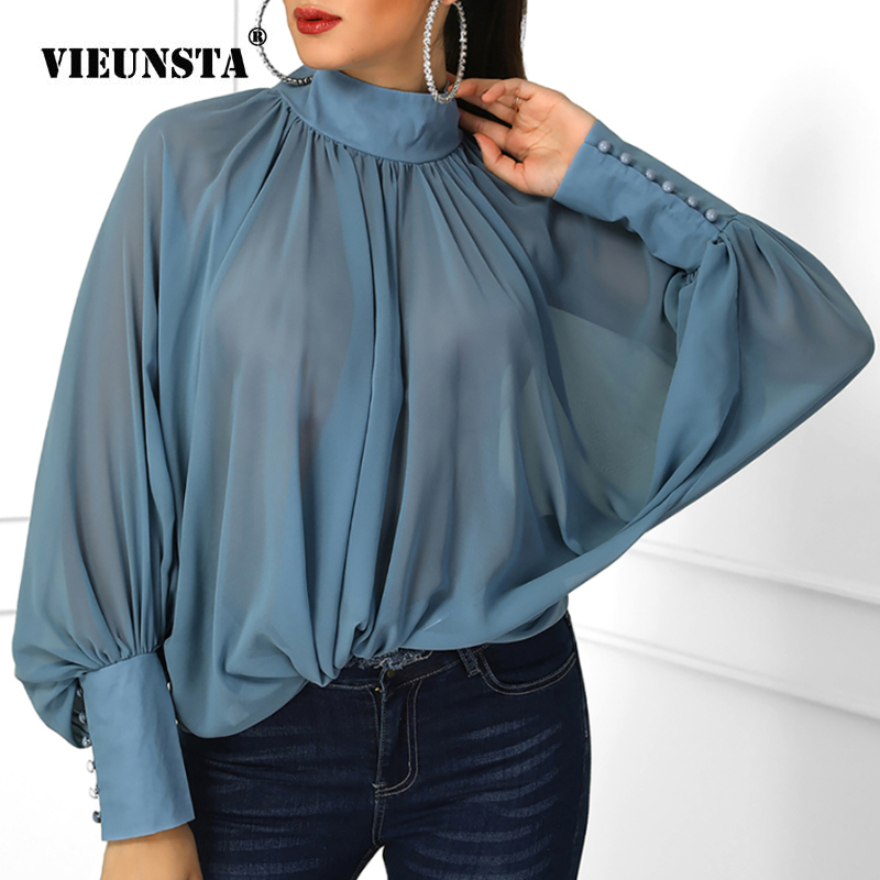 Spring Lantern Long Sleeve Blouse Autumn Turtleneck Satin Silk Women Shirt Boho Hollow Out Backless Bow Womens Tops And Blouses