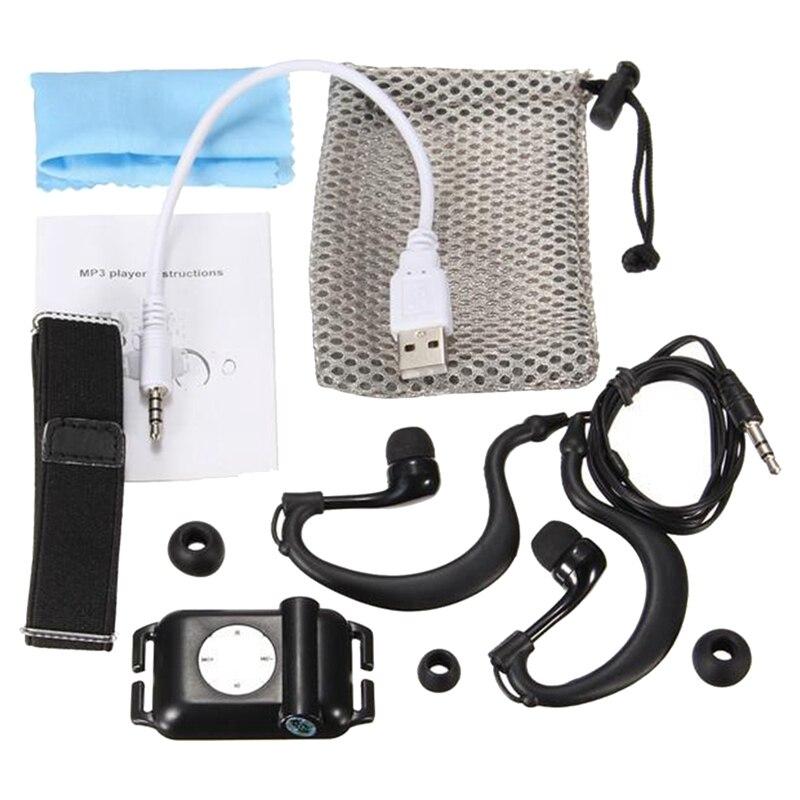 IPX8 Waterproof Sport MP3 Player Player FM Radio Surfing Swim With Earphone