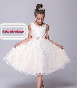 Image 1 - Kids Princess Party Dress for Girls Tutu Mesh Costume Birthday Ball Gown Lace Children Bridesmaid Elegant Dress Evening Girls