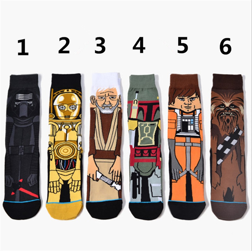 1 Pair Movie Wars Stockings For Adult Men Women Jedi Order Master Yoda Cosplay Cotton Funny Tide Long War Socks