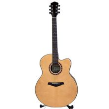 42 inch jumbo electric guitar acoustic guitar 6 strings wood guitar folk guitar natural color high gloss with guitar pickup