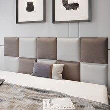 Cabecero de cama grueso autoadhesivo, tablero de cabeza, bolsa suave, anticolisión Tatami, pegatinas estéreo 3d, decoración de pared para dormitorio