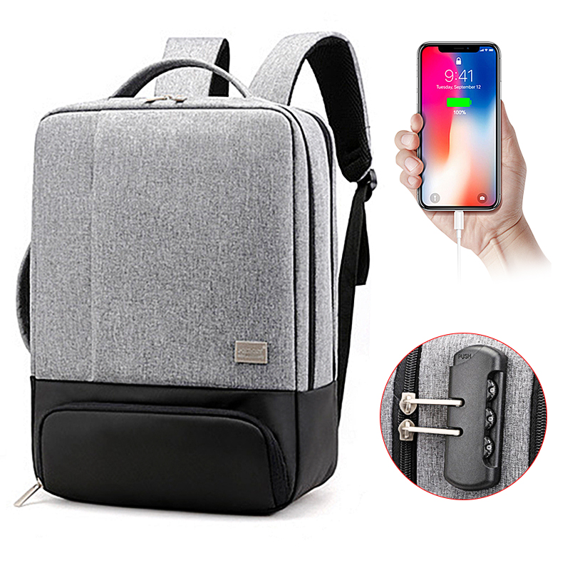USB Charging Anti Theft Backpack Women Men Teen Teenager 15.6 Inch Laptop Backpacks For School Girls Boy Male Notebook Back Pack