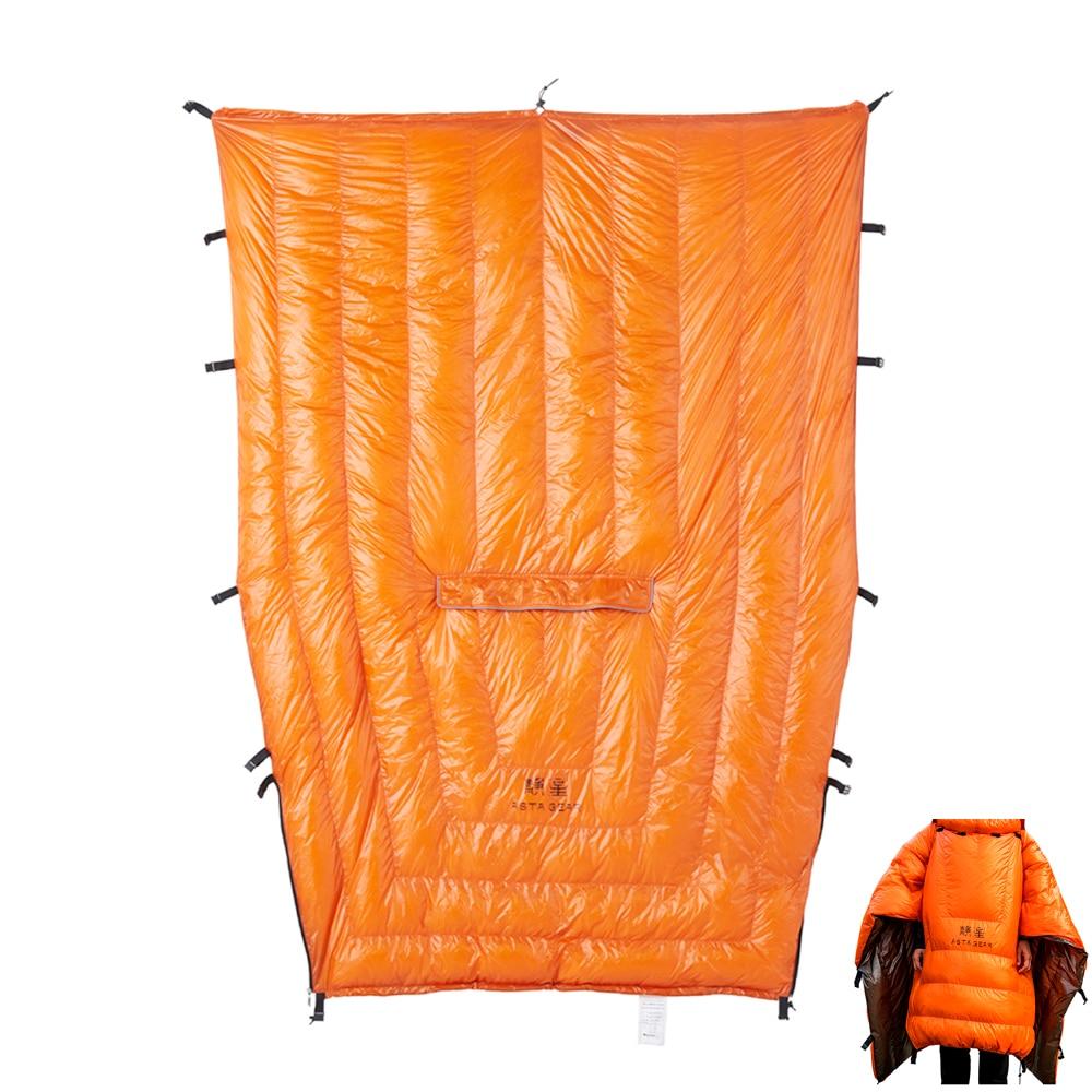 Colchas de Dormir Branco para Baixo Astagear Hammock Underquilt Pato Múmia Bolsa Dormir Cobertor Esteira 20d 95%