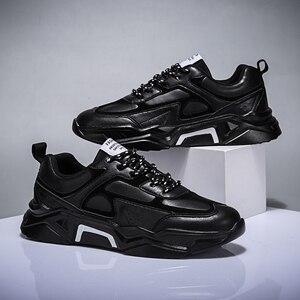 Image 1 - Mężczyźni buty w stylu casual Tenis oddychające Krasovki zasznurować luksusowe mody ulicy Trend świetlne tenisówki męskie Chaussure Homme Zapatillas 46