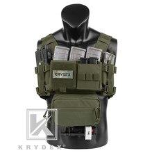 KRYDEX – gilet tactique militaire MK3, équipement de poitrine, Mini spirite Airsoft, pour la chasse, Ranger, avec pochette pour Magazine