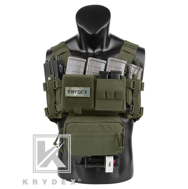 KRYDEX MK3 taktik göğüs Rig Mini Spiritus Airsoft avcılık yelek Ranger askeri taktik taşıyıcı yelek dergi kılıfı ile