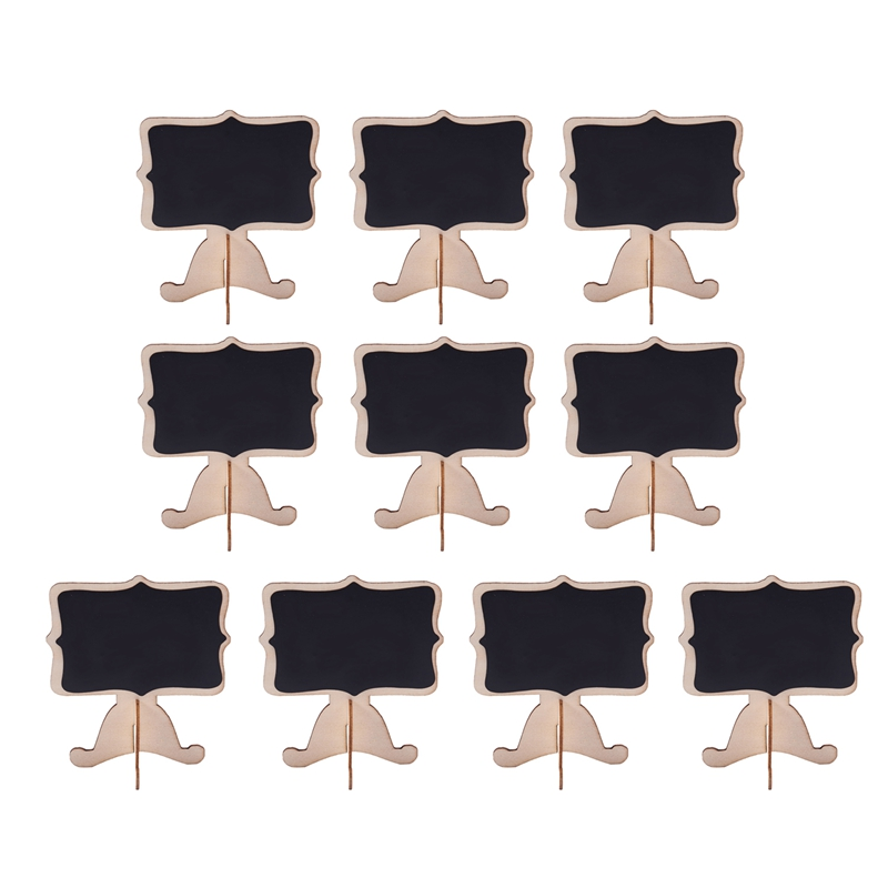 10 Pcs Mini Wooden Small Wedding Blackboard Message Table Number Chalkboard