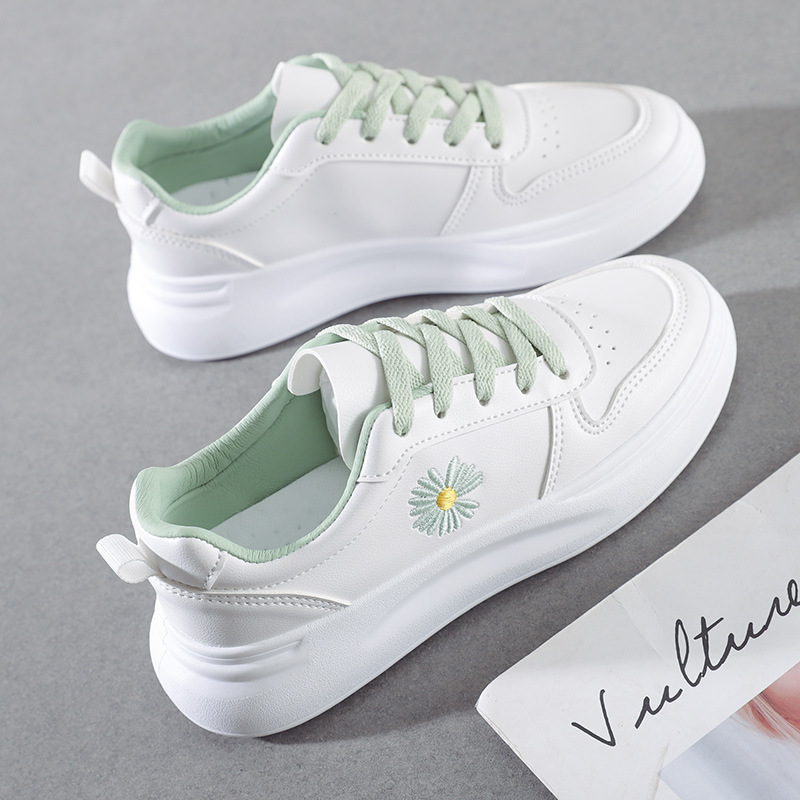 Best Sellers Women Shoes New Fashion Sneakers High Quality PU Low-cut Shoes Woman Platform Skate Shoes Ladies Casual Loafers