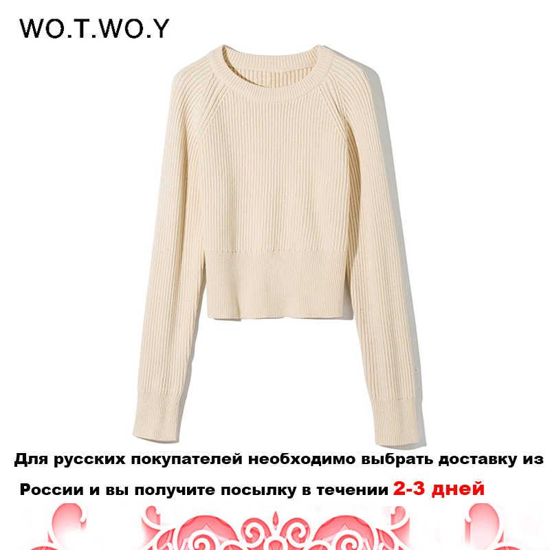 WOTWOY Gestrickte Pullover und Rock Zwei Stück Set Frauen Herbst Slim Fit Crop Tops Frauen Pullover Röcke 2 Stück Sets frauen Outfits