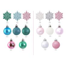 24 Pcs New High-quality Christmas Tree Pendants Decorations Balls Snowflakes Hanging Ornaments Wholesale
