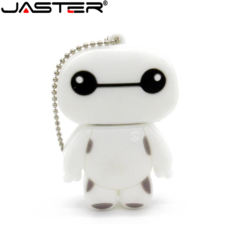 JASTER Cartoon BAYMAX Character Usb Flash Drive BIG HEOR 6 Pendrive 8GB 16GB 32GB Full Capacity Memory Stick Usb Creative Gift