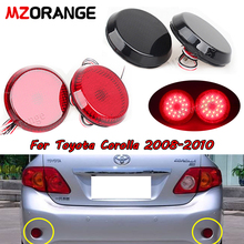 2pcs 6.8cm Car LED Tail Rear Bumper Reflector Light Fog Brake Stop Lamp For Toyota Corolla