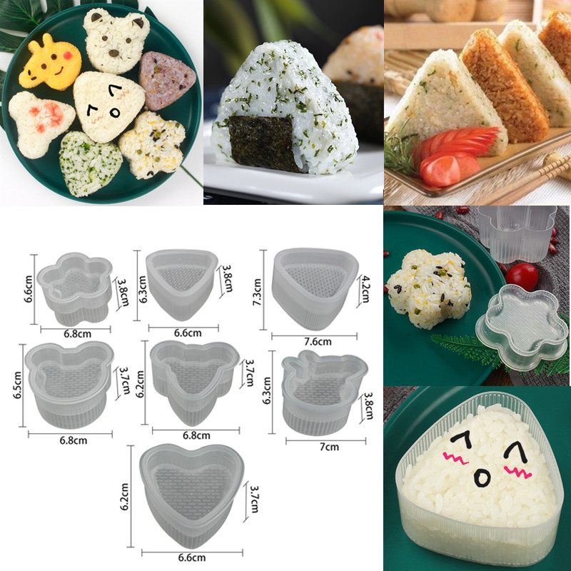 Cute Cartoon Sushi Nori Rice Mold Decor Cutter Bento Maker Sandwich DIY Tool Kitchen Accessorie Home Baking Nori Sushi Tools