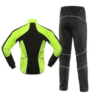Image 2 - Bergrisar 남자 겨울 사이클링 자 켓 세트 방풍 방수 열 스포츠 자전거 바지 자전거 정장 의류 Bg011zy