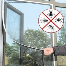 Insect Window Net Insect Fly Bug Mosquito Door Window Net Mesh Screen Curtain Protector Black Window Screen Divider Seperate