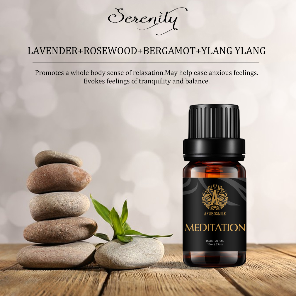 meditation Essential Oil is  Anti Stress & Relax Mind Good Smell India Aromatherapy Oils Meditation 10Ml