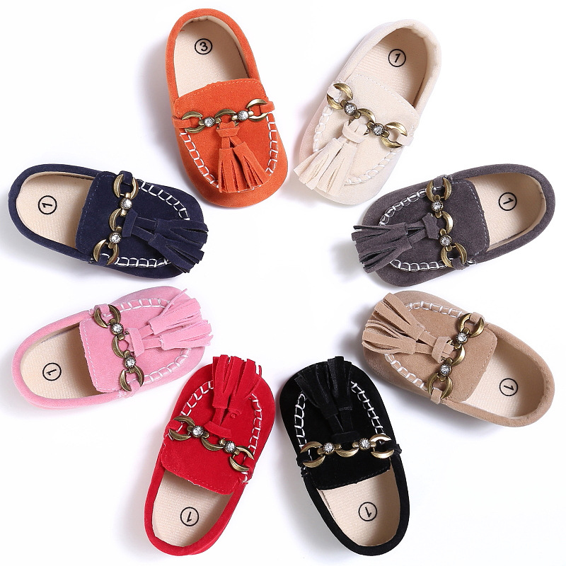 Handsome Newborn Baby Loafers Baby Shoes Girls Boys New Arrival Leather Soft Cotton Sole First Walker Infant Toddlers Prewalker
