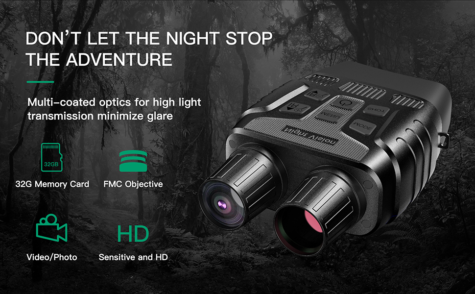 HD Digital Night Vision Binoculars With LCD Screen Infrared
