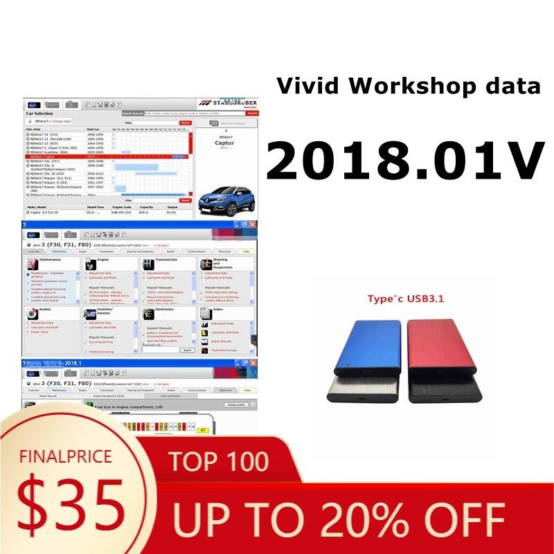 Dados vívidos da oficina 2018.1v( (stakis-technik) software de reparo automotivo suporte vívido mais europa modelo de carro multi-línguas
