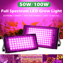 Grow-Light Phyto-Lamp Hydroponic-Plant-Growth-Lighting LED Greenhouse Full-Spectrum 100W