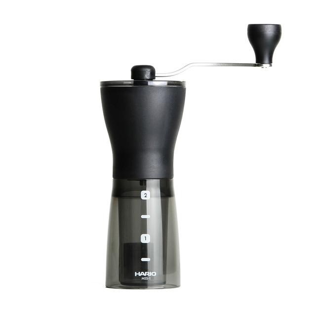 מכונת קפה HARIO יפני נייד אבקת קפה מטחנת קרמיקה ליבה טחינה ביתי טחינה ידנית קפה שעועית MSS