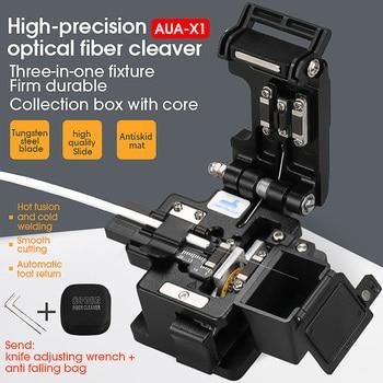 2021 new AUA-X1 High-precision fiber cleaver with waste fiber box, fiber optic cable cutter, fiber fusion splicer cutter 1