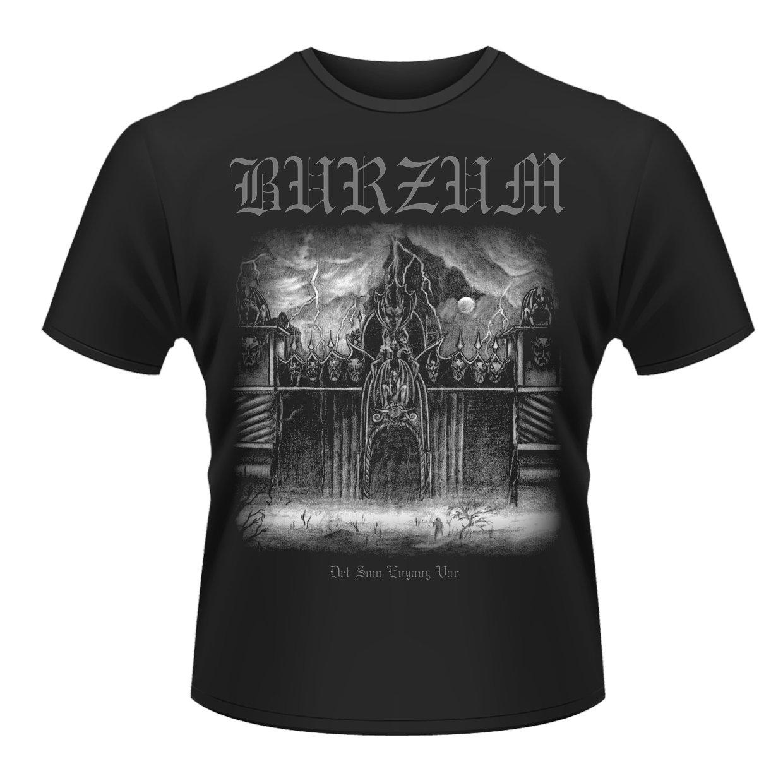 Burzum Men's Det Som Engang VAR 2013 Banded Collar Short Sleeve T-Shirt 100% Cotton Short Sleeve O-Neck Tops Tee T Shirts
