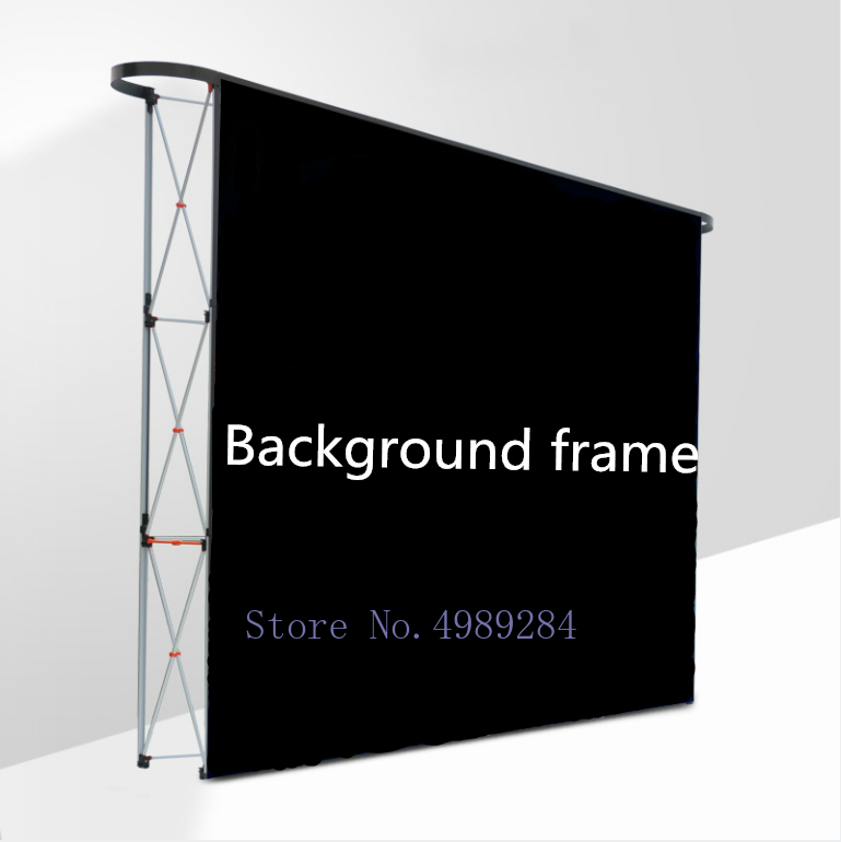 Buy Aluminum alloy fold Background wall ad Flower wall support wedding Stage props festival outdoor display board Magnetic birthday for only 699.8 USD