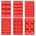 SJ 9 видов, полусфера/Плоская Круглая силиконовая форма, инструменты для украшения тортов, силиконовая форма, шоколад, сэндвич, печенье, жароп...