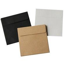 10PCS/LOT 10*10cm Kraft Square Mini Blank Envelopes for Membership Card / Small Greeting Card / Storage Paper Envelopes