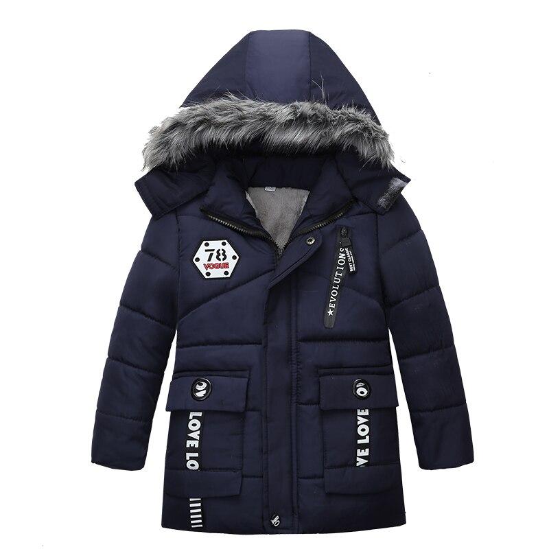 Модное теплое Утепленное зимнее Детское пальто с меховым воротником, детская верхняя одежда, ветрозащитные куртки для маленьких мальчиков и девочек, для От 2 до 6 лет|Пуховики и парки|   | АлиЭкспресс