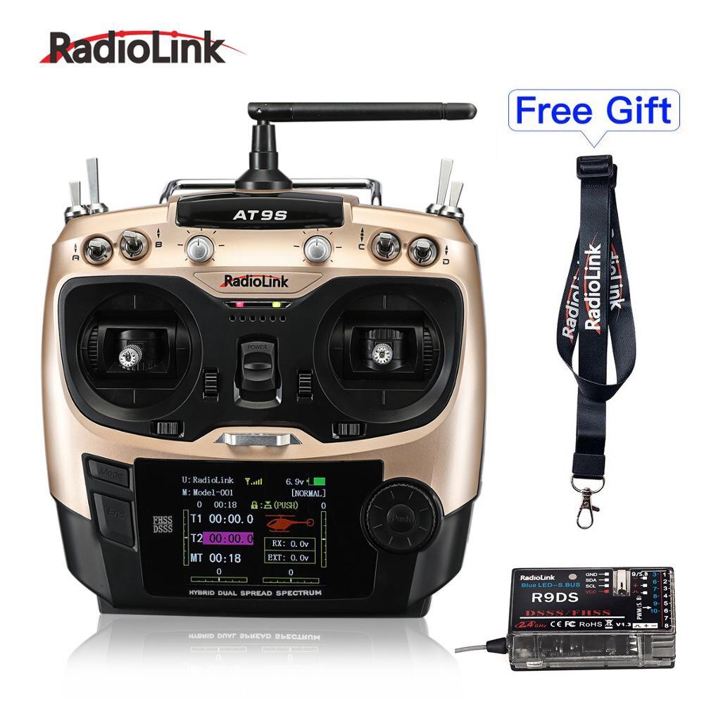 Радиоуправляемый передатчик и приемник Radiolink AT9S 10CH R9DS 2,4G Радиоконтроллер для FPV гоночного дрона/мультикоптера/вертолета самолета|Детали и аксессуары|   | АлиЭкспресс