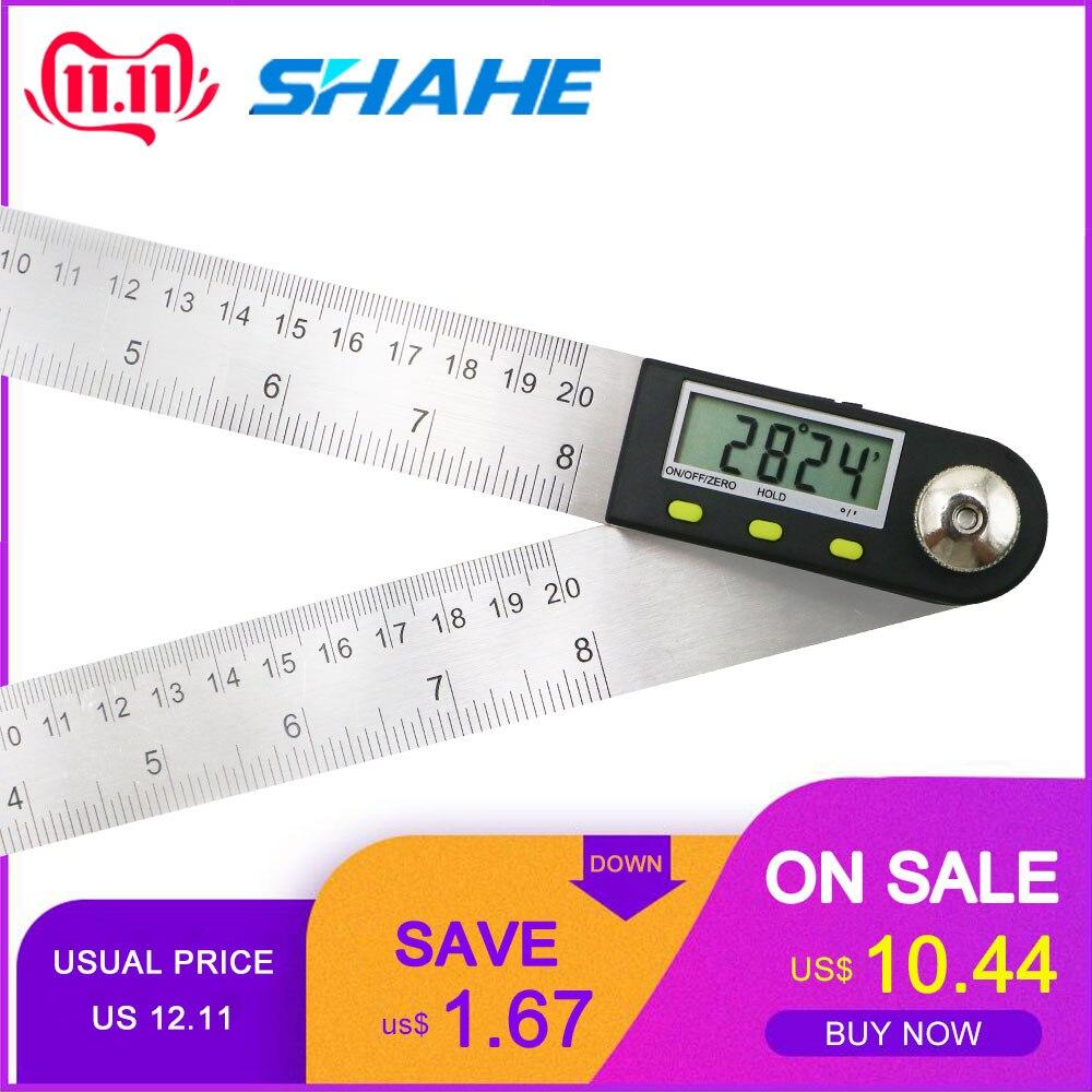 Digitale Winkel Finder Herrscher 200 mm Digitale Winkelmesser Digital Goniometer 2-in-1 Winkel Gauge Mit Edelstahl klingen