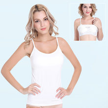 2019 Modal Large Size Sexy Non-Steel Ring with Chest Pad Blouses Base Shirt Sexy Camisole Women's Summer(China)