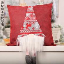 Горячая Новая безликая кукла наволочка Рождество мультфильм Санта Клаус Безликий кукла спальня, диван, декор красный, серый@ 40