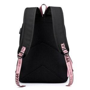 Image 5 - BPZMD Lover Loser Large School Bags for Teenage Girls Usb Charging Backpack Women Book Bag Big High School Bag Youth Leisure Col