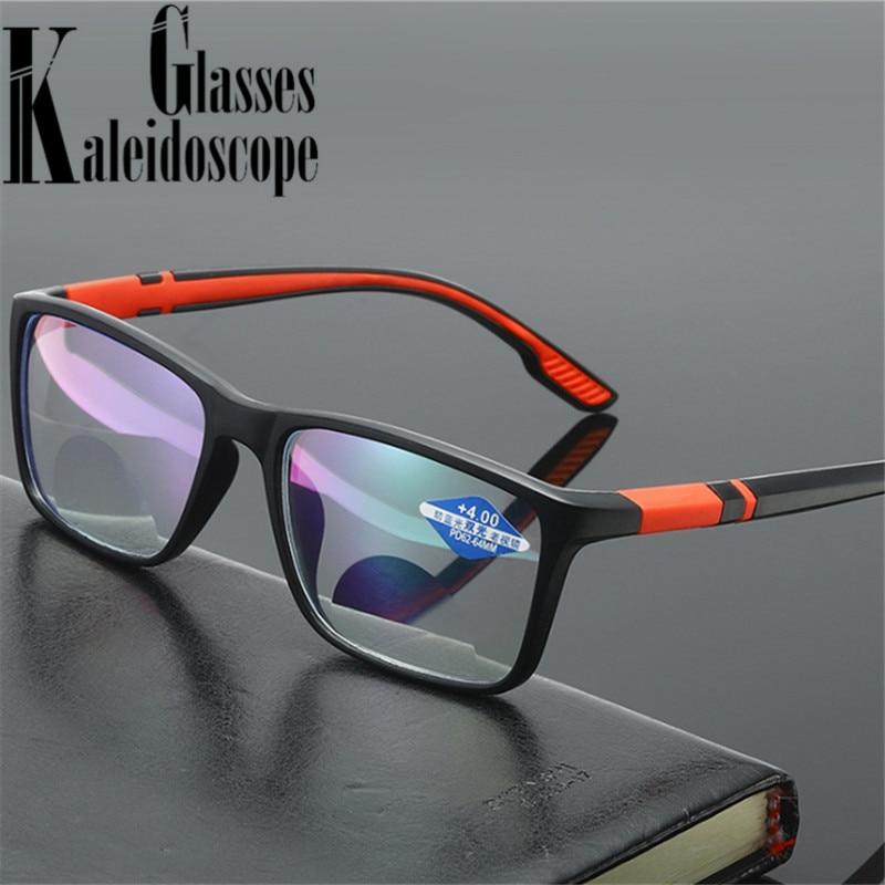 Gafas de lectura Vintage TR90 para hombre y mujer, anteojos para presbicia con luz azul, gafas de hipermetropía lejana, bifocales + 1,5 2,0 2,5 3,0