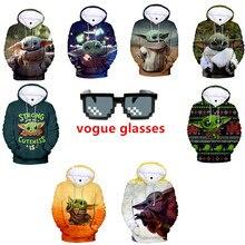 Mandalorian BabyYoda 3D Hoodies Men Impostor Graphic Anime Streetwear Sweatshirt Sudadera Hombre Teen boy Hip Hop Hoodie