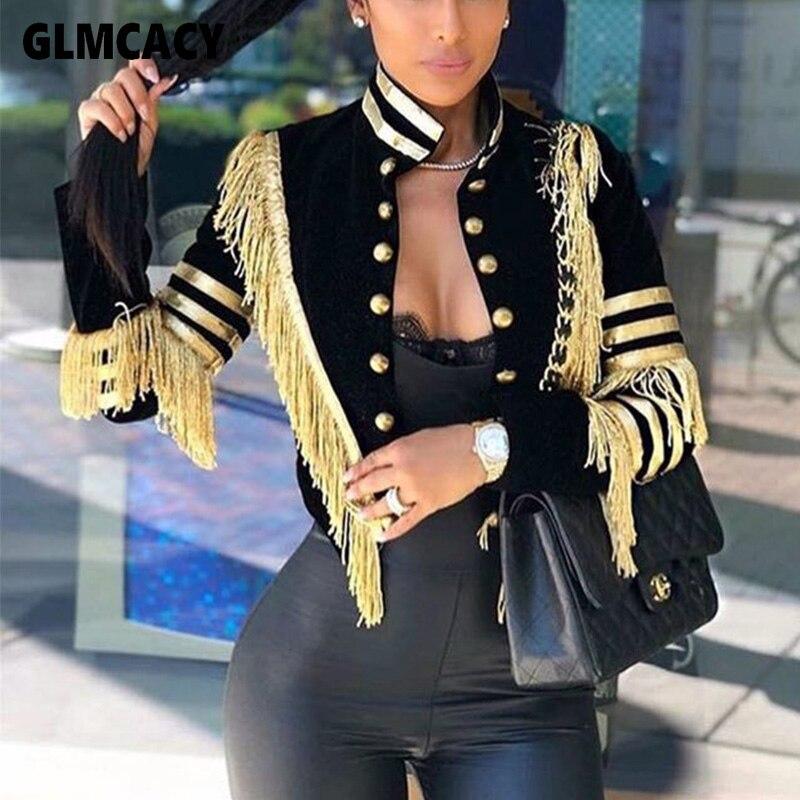 Women Winter Solid Office Cardigan Coat Autumn Female Warm Blend Blazer Vintage Tassel Jacket Outwear Mujer