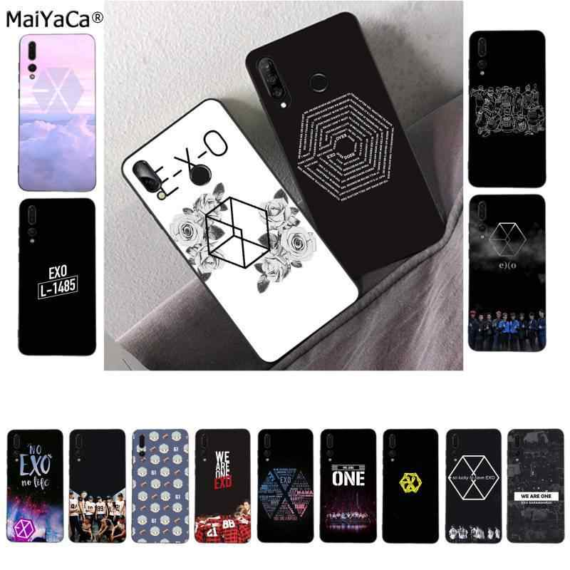MaiYaCa EXO Logo Custom Photo Soft fundas Phone Case for Huawei P9 10 lite P20 pro lite P30 pro lite Psmart mate 20 pro lite